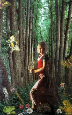 """Soul collage card """"the free child's sanctuary"""" by Linda Carmichael"""