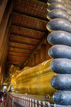 Wat Pho and the Reclining Buddha, Bangkok, Thailand