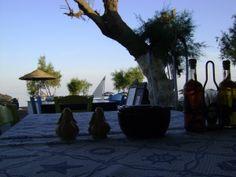 Ammos Restaurant at Perivolos Beach Santorini Island Greece