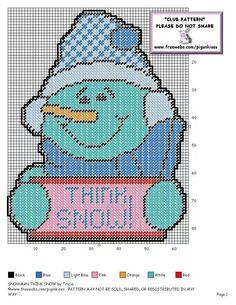 Think Snow Snowman Pg 2/2