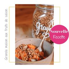 • Homemade fresh granola    ___ Parfois il suffit d'un petit rien pour avoir la 🍌 et bien démarrer une journée!    Comme ce délicieux granola maison hyper facile et rapide aux fruits de saison.  📸 La recette  est sur le blog (www.celiadreams.be)  ______  #granola #recettefacile #mangermieux #mangerequilibré #reequilibragealimentaire #breakfast #ideedepetitdejeuner Girl Cooking, French Girls, Granola, Seasonal Fruits, Home, Muesli