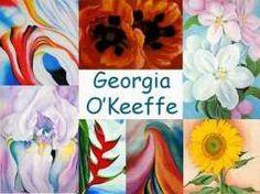 Leuke en informatieve powerpoint over Georgia O'Keeffe voor 5, deze en nog vele andere kun je downloaden op de website van Juf Milou.