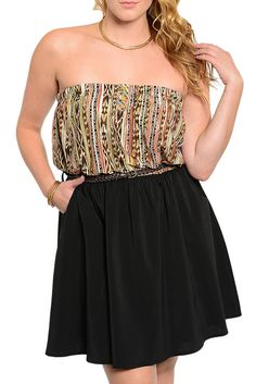 DHStyles Women's Black Brown Plus Size Trendy Tribal Print Sleeveless Date Dress With Belt - 1X #sexytops #clubclothes #sexydresses #fashionablesexydress #sexyshirts #sexyclothes #cocktaildresses #clubwear #cheapsexydresses #clubdresses #cheaptops #partytops #partydress #haltertops #cocktaildresses #partydresses #minidress #nightclubclothes #hotfashion #juniorsclothing #cocktaildress #glamclothing #sexytop #womensclothes #clubbingclothes #juniorsclothes #juniorclothes #trendyclothing…