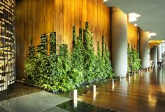 hotel lobby PARKROYAL on Pickering Interior_Hotel Lobby_Living Wall_Photo Credit; Deco Pizzeria, Deco Restaurant, Hotel Lobby, Luxury Hotel Design, Green Wall Decor, Green Facade, Moss Wall, Green Architecture, Room Interior Design