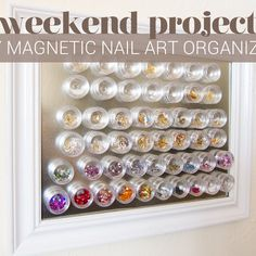 DIY Project: Magnetic Nail Art Organizer | Chalkboard Nails | Nail Art Blog