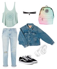 """""""♤♤"""" by song-v on Polyvore featuring Current/Elliott, RVCA, Balenciaga, Fallon and Beats by Dr. Dre"""