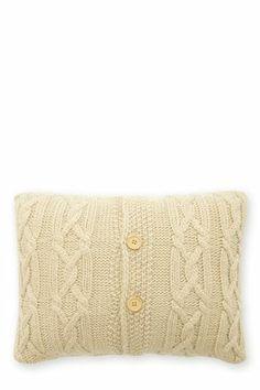 Cream Chunky Knit Cushion