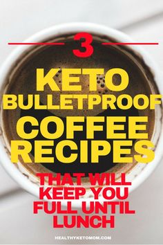 Kickstart your morning with keto bulletproof coffee. This delicious coffee will keep you full until lunch and speed up your weight loss. What is keto bulletproof coffee? how to make bulletproof coffee? all of your questions will be answered here! I Have Breakfast, Low Carb Breakfast, Breakfast Cereal, Breakfast Casserole, Breakfast Ideas, Keto Friendly Desserts, Low Carb Desserts, Healthy Desserts, Chocolate And Vanilla Cake