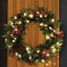 The scent of a real wreath on my front door makes coming home from work extra exciting at Christmas