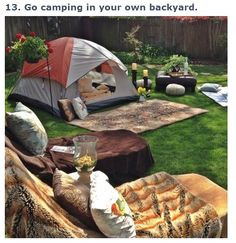 Our camping area...