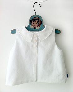 Unisex White Diaper Shirt - Baby Boy Baby Girl Top