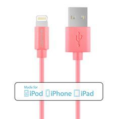 Amazon.com: [Apple MFi Certified] iCASEIT Lightning to USB Cable 1m / 3.3ft for iPhone 6s, 6s Plus, 6, 6 Plus, 5S, 5C, 5, iPad Pro, Air, Air 2, Mini 4, 3, 2, iPod - 1m / 3.3ft | Pink: Computers & Accessories