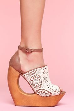 Rockin Lace Platform in Collections Blinded By The Light at Nasty Gal ($100-200) - Svpply