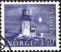 NORWAY - CIRCA 1983: A postage stamp printed in the Norway shows Lindesnes Lighthouse, circa 1983