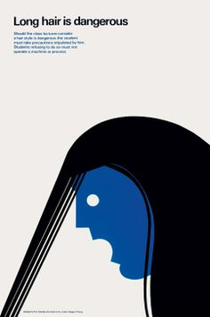 Long hair is dangerous by Tom Eckersley