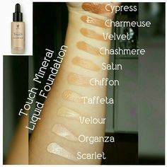 The famous Younique Liquid Touch Foundation is available in ten shades. It goes on like a liquid and dries to a powder finish. Younique Foundation Colors, Touch Mineral Liquid Foundation, Touch Foundation, Mineral Touch, Flawless Foundation, Powder Foundation, Younique Touch, Eye Makeup, Fiber Lash Mascara