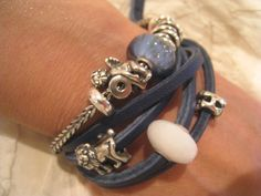Oooh I love this~ leather with trollbeads~<3
