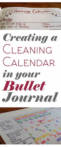 It's easy to make a schedule for yourself to get things clean! Just draw it out in the bullet journal and check it off as you go. Easy peasy!