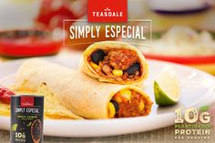 Looking for an easy, nutritious kid-friendly lunch? Try this simple, make-ahead wrap! You've probably got most of the ingredients in your pantry already! Make them using Simply Especial Spicy Cuban Beans for of in each serving! Lunch Wraps, Corn Salsa, Tortilla Wraps, Make Ahead Lunches, Plant Based Protein, Freezer Meals, Cuban, Cheddar Cheese, Pantry
