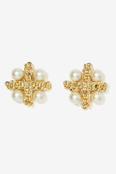 Leandra Pearl Earrings - Earrings | Gold | Accessories | All | Accessories | The Sultry Siren