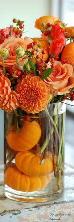 Fall Flower Arrangement perfect for everyday as well as Thanksgiving