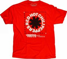 9fdd9d37 Red Hot Chili Peppers Men's T-Shirt from San Francisco Civic Auditorium,  Dec 31. Wolfgang's