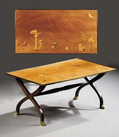 A MARQUETRY COFFEE TABLE CREATED BY PHILIPPE, DUC DE MOUCHY, FOR MAISON DIOR, CIRCA 1950 - Christie's