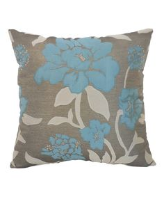 Look at this Slate Rosemary Floral Jacquard Throw Pillow on #zulily today!
