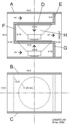 Linkwitz Lab Phoenix Dipole Subwoofer schematic