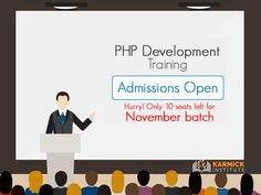 Just 10 seats left in the November batch! Start your career as a #PHP Developer with Karmick Institute: ow.ly/v1QR305vL82 #career