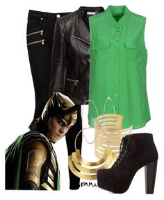 """Loki inspired: Casual"" by tardis-221b ❤ liked on Polyvore"