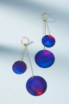 Movement Double Baton Drop Earrings | Anthropologie