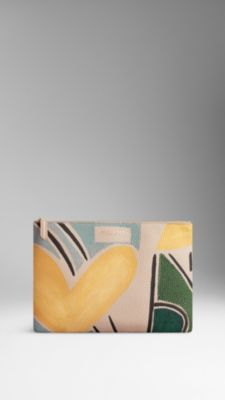 Burberry Large Hand-Painted Leather Beauty Wallet