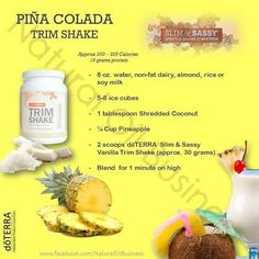 Here are doTERRA TrimShake recipes to help you with your weight loss plan. These recipes will help put some variety into your diet. Cooking With Essential Oils, Best Essential Oils, Essential Oil Blends, Protein Shake Recipes, Smoothie Recipes, Doterra Slim And Sassy, Doterra Recipes, Grapefruit Essential Oil, Doterra Essential Oils