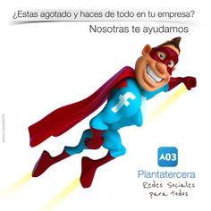 Diseño en redes sociales. Plantatercea. Xavier Portalés. redes sociales www.plantatercera.com Mario, Fictional Characters, Socialism, Social Networks