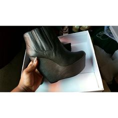 Steve Madden Booties Little to no wear, In great condition! Actually a size 11, but fits like a 10.  For those of you that like these, please leave a comment below as well. I repost daily, and will only leave this post up if there's interest. Steve Madden Shoes Heeled Boots