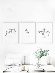 Grateful for Everything Printable Quote, Gratitude. Grateful for Everything Printable Quote, Gratitude Quotes, Grateful for the Small Things Gratitude Wall Art Modern Gratitude Printable Quote Living Room Furniture, Living Room Decor, Bedroom Decor, Wooden Furniture, Antique Furniture, Furniture Stores, Bedroom Wall, Dining Room Quotes, Dining Rooms