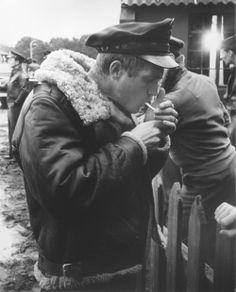 Steve Mcqueen filming''The War Lover''