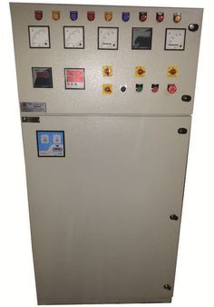 Auto mains failure panels are used to control start/stop of diesel generating sets in accordance with the availability of main power supply. The panels are manufactured for various capacities and different makes of diesel generating sets. These panels are incorporated with battery chargers, various protections for diesel engines.
