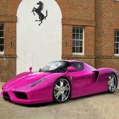 Pretty Pink Ferrari