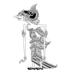 Illustration about A character of traditional puppet show, wayang kulit from java indonesia. Illustration of puppet, panyarikan, narada - 84041384 Puppet Show, Javanese, Shadow Puppets, Traditional, Illustration, Character, Art, Art Background, Kunst