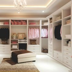 ~ Organized, spacious and beautiful walk-in closet. ~