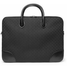 GucciDiamond Canvas Leather-Trimmed Briefcase