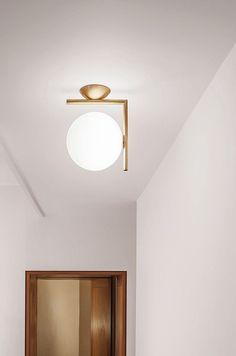 IC Light Brass designed by Michael Anastassiades for Flos Lighting Interior Lighting, Home Lighting, Modern Lighting, Lighting Design, Lighting Stores, Luxury Lighting, Lighting Ideas, Decoration Design, Deco Design