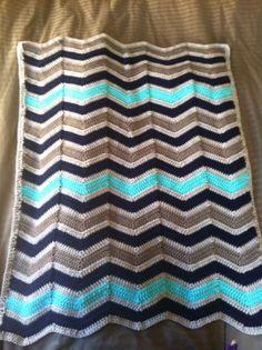 Chevron Crochet Baby Blanket  | followpics.co