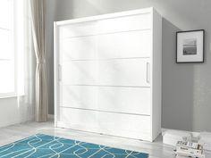 Maggio Alu 2 Door Sliding Wardrobe Selsey Living Colour: White, Size: x x White Sliding Door Wardrobe, 4 Door Wardrobe, Mirrored Wardrobe, Modern Wardrobe, Hanging Sliding Doors, Solid Brick, Thing 1, Drawer Unit, Hanging Rail