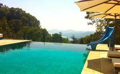 Beautiful infinity pool, Mediterranean, Turkey.