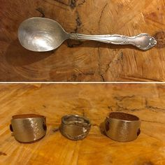 """@lady.rock.crafts on Instagram: """"One spoon = 3 rings 1 🥄 = 3 💍  #diy #leather #💍 #leatherwork #leathercraft #leatherjewelry #leatherfashion #jewelryphotography #…"""" Leather Jewelry, Leather Craft, T Shirt Remake, Old T Shirts, Rock Crafts, Jewelry Photography, Leather Working, Leather Fashion, Spoon"""