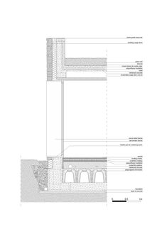 Gallery of ESSE House / ellevuelle architetti - 19 Detail Architecture, Roof Detail, Architectural Section, Glass Facades, Building Systems, Detailed Drawings, Flat Roof, House Roof, Section Drawing