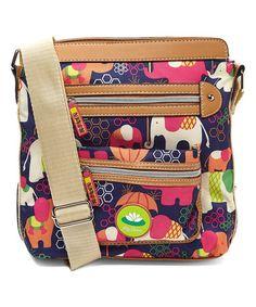 Look what I found on #zulily! Purple Elephant Rain Bella Crossbody Bag #zulilyfinds